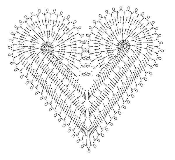 Beautiful heart motif dress inspiration and diagram crochet kingdom heart motif crochet ccuart Gallery