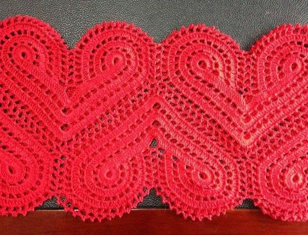 Beautiful Heart Motif Dress Inspiration And Diagram ⋆ Crochet Kingdom