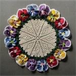Pansy Circle Crochet Doily Free Pattern