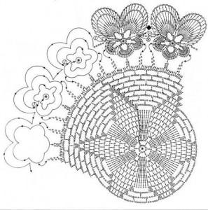 pansy cirle doliy crochet