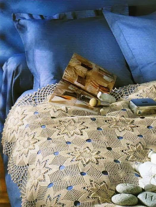 Crochet Bedspread Hearts And Stars ⋆ Crochet Kingdom