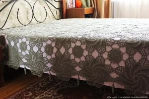 swirls crochet bedspread blanket pattern 1
