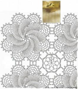 swirls crochet bedspread blanket pattern 2