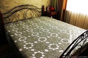 swirls crochet bedspread blanket pattern