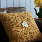 Textured Crochet Pillow