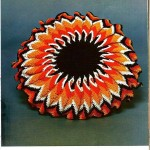 Bursting Sun Crochet Pillow