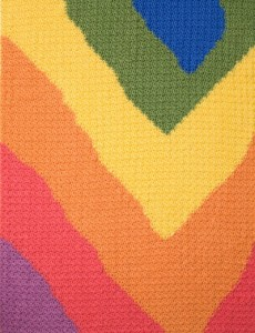 Baby Waves Free Crochet Baby Blanket 1