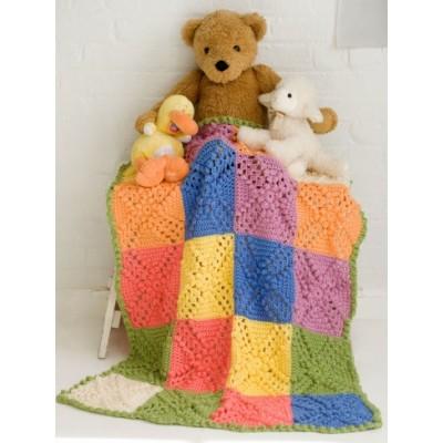 Bobble Blocks Free Crochet Baby Blanket