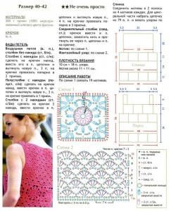 Crochet top with floral squares and fancies point 1