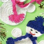Cute Crochet Snowmen Applique