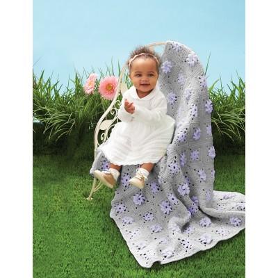 Field of Flowers Free Crochet Baby Blanket