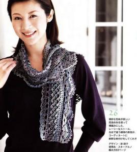 Free Crochet Scarf Pattern - Mesh and Border