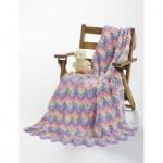 Knit or Crochet Ripple Free Crochet Baby Blanket
