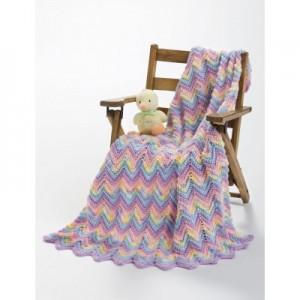 Knit or Crochet Ripple Baby Blanket