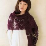 Purple Stole the Big Square Patterns - Crochet