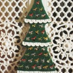 White Border Christmas Tree Crochet Pattern