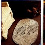Oval Crochet Floor Rug Pattern