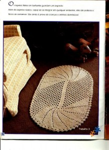 crochet oval floor rug pattern