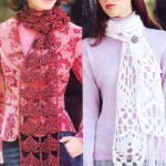Free Crochet Scarf Pattern - Tassels and Ribbons