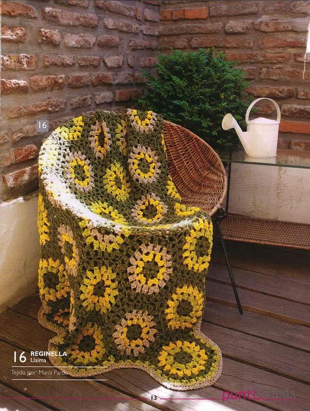 Sunflower Crochet Throw Pattern ⋆ Crochet Kingdom