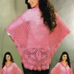 Pretty Pink Crochet Shawl Pattern
