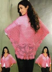 pink shawl crochet pattern free
