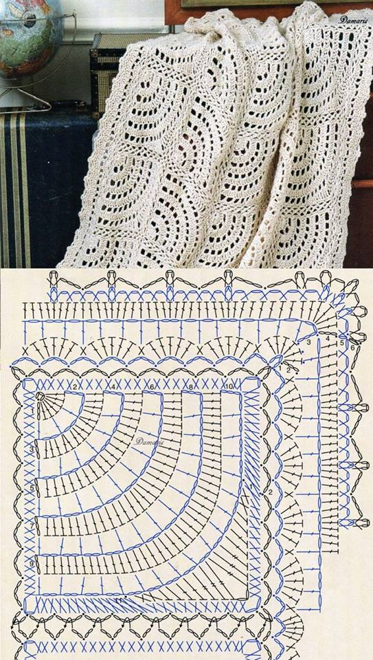 Semi Circle Crochet Blanket Crochet Kingdom