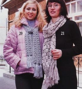 two fancy crochet scarf patterns