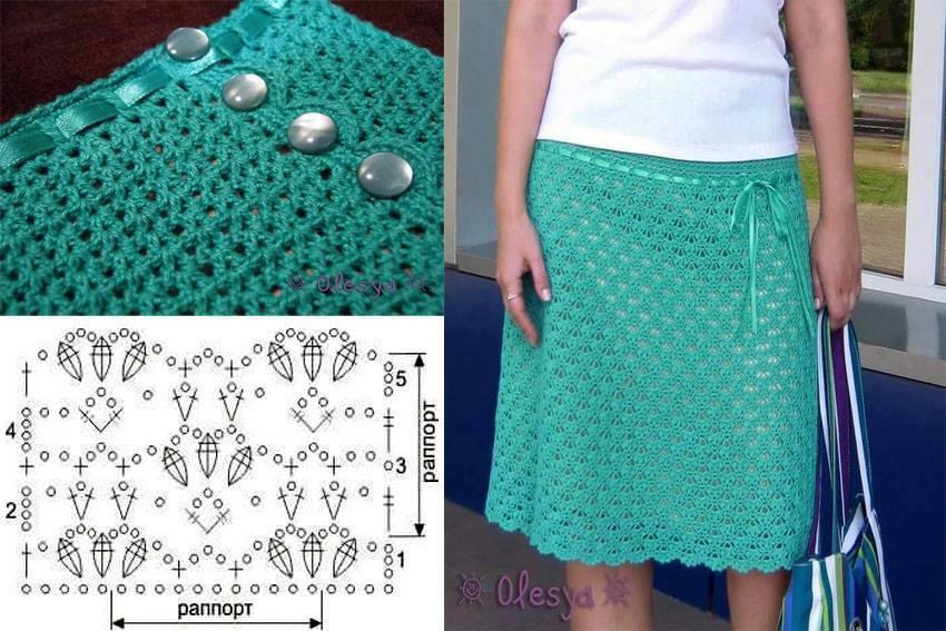 Aqua Crochet Skirt Pattern