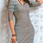 Fitted crochet dress