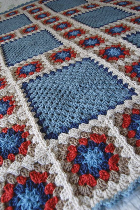 Patchwork Granny Square Blanket Various Sizes ⋆ Crochet