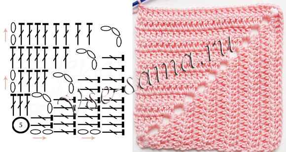 Patchwork Crochet Blanket - Free Pattern diagram 1 ⋆ Crochet Kingdom