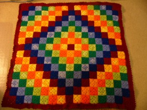 Patchwork Crochet Free Pattern Diamond Design 2