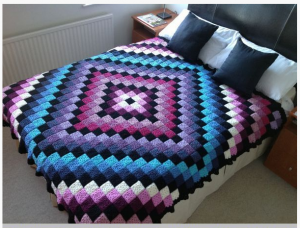 Patchwork Crochet Free Pattern Diamond Design