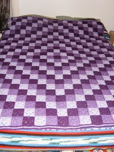 Patchwork Crochet Free Pattern Diamond Design purple