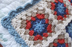 Patchwork Granny Square Blanket Various Sizes 1