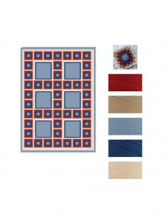 Patchwork Granny Square Blanket Various Sizes