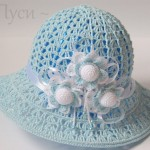 Blue Crochet Hat for Girls