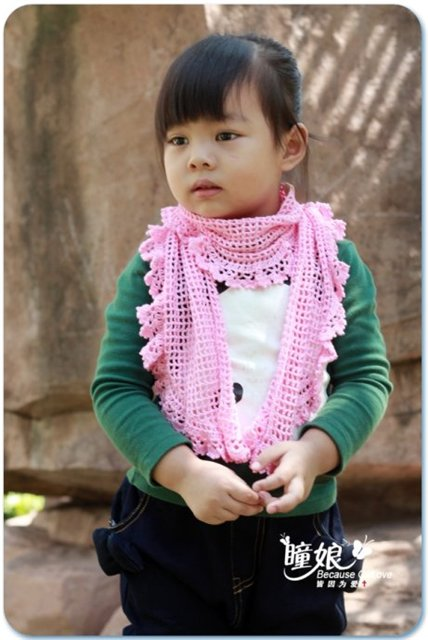 Free Pattern for a Kids Crochet Scarf
