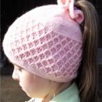 Lattice Beanie - kids Hat Crochet Pattern