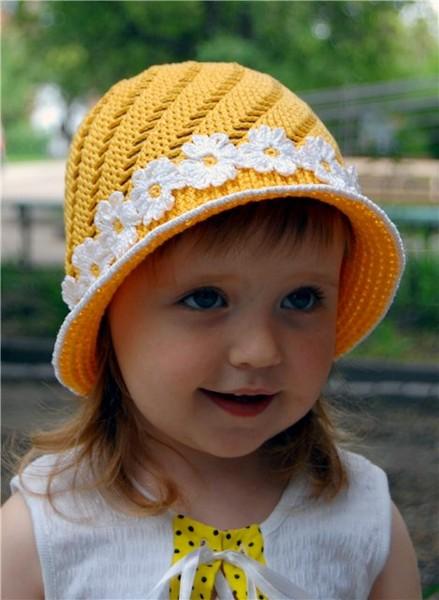 Yellow Hat Cap For Girls ⋆ Crochet Kingdom