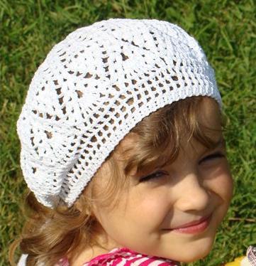 Crochet Pattern For A Girls Pineapple Stich Beret Crochet Kingdom