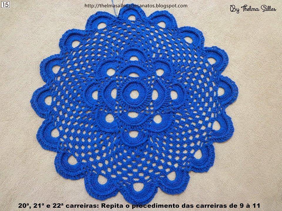 Step By Step Round Doily Pattern Crochet ⋆ Crochet Kingdom
