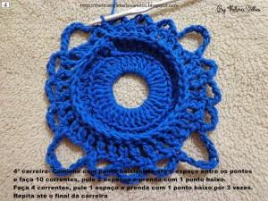 Step b Step Round Doily Pattern - Crochet 4