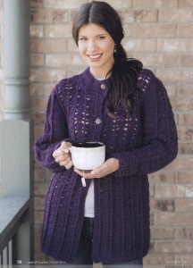 chunky crochet cardigan pattern