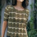 Fan Stitch Crochet Top