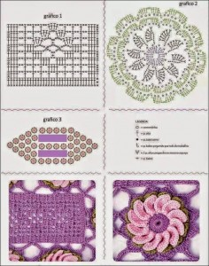floral table runner crochet pattern free diagram