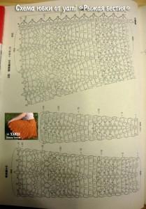 orange Crochet Skirt Pattern 1 diagram