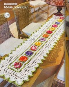 rectangular flower table runner crochet