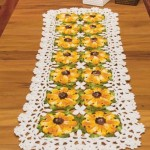 Free Crochet Table Runner Pattern - Yellow Flowers